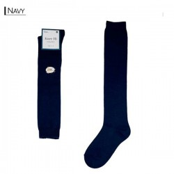 Plain Colour Knee High/Navy
