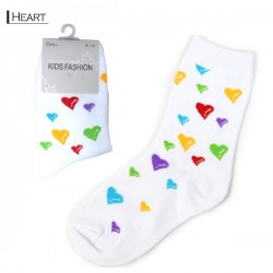 Kids Pattern Socks - Heart