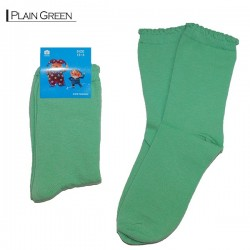 Kids Pattern Socks - Plain Green