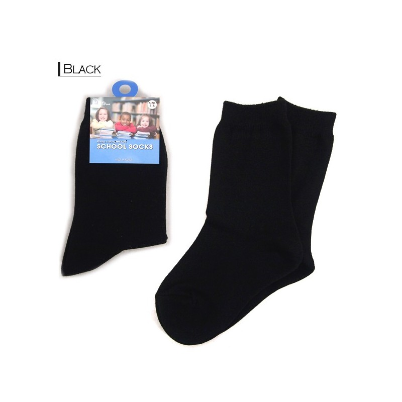 Kids School Socks/Black