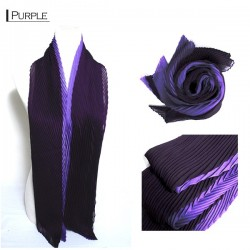 Ruffle Scarf - Purple