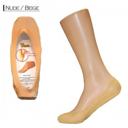 Silicon Cotton Sneakers - Nude