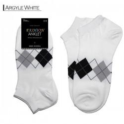 Fashion Anklet - Argyle White