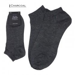 Plain Colour Anklet - Charcoal