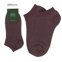 Plain Colour Anklet - Brown
