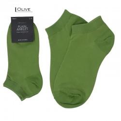 Plain Colour Anklet - Olive