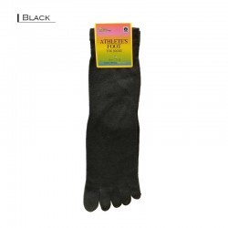Plain Toe Dress Socks - Black