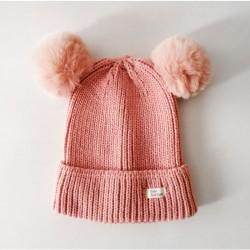 Baby Beanie - Pompom / Pink