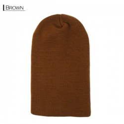Plain Colour Beanie 11 / Brown