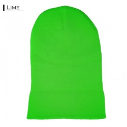 Plain Colour Beanie 14 / Lime