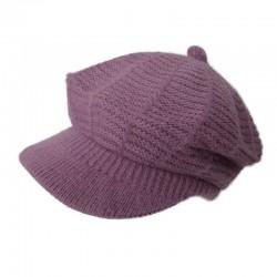 Angora Cap Beanie / Violet
