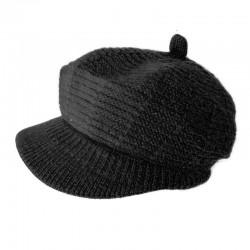 Angora Cap Beanie / Black