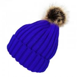 Pompom Beanie Type2 / Blue