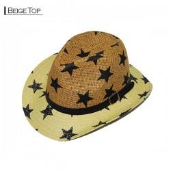 Star Cowboy Hat - Beige Top