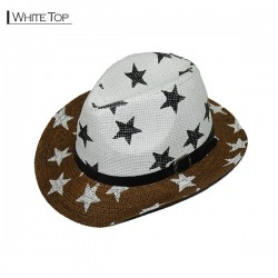 Star Cowboy Hat - White Top