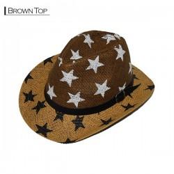 Star Cowboy Hat - Brown Top