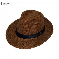 Plain Fedora Type2 - Brown