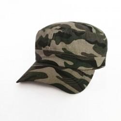 Military Cap - Camo Green