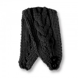 Twist Knitted Headband - Black