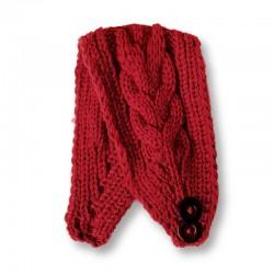 Twist Knitted Headband - Red