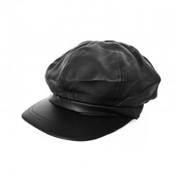 Beret Cap - Leather Style /...