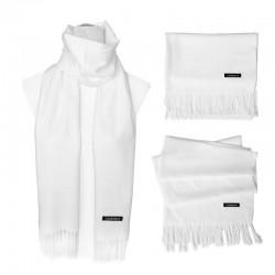 Plain Scarf - White