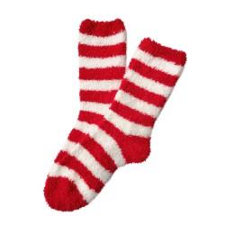 Bed Socks Long - Red & White