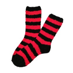 Bed Socks Long - Red & Black