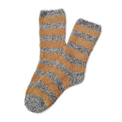 Bed Socks Long - Brown & Grey