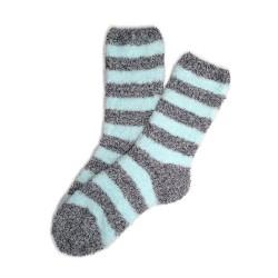 Bed Socks Long - Grey & Sky