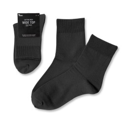 Wide Top High Anklet  / Black
