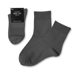 Wide Top High Anklet / Grey
