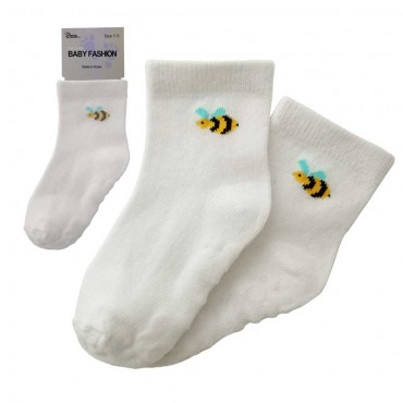 Baby Non Slip - Bee / White