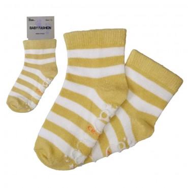Baby Non Slip - Striped Yellow