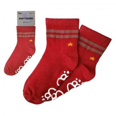 Baby Non Slip - Star / Red
