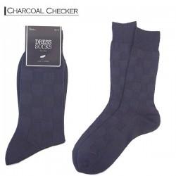 Men Dress - Charcoal Checker