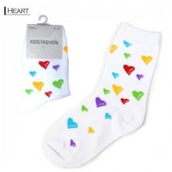 Kids Pattern Socks - Heart