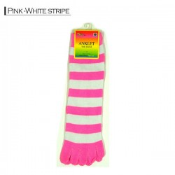 Toe Socks - Pink / white...