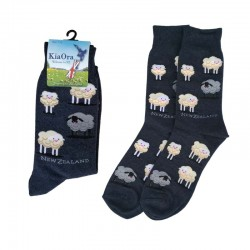 Gift Socks - Sheep/Navy