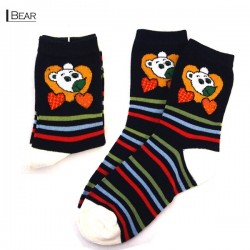 Kids Thin Pattern Socks - Bear