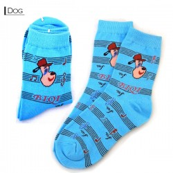 Kids Thin Pattern Socks - Dog