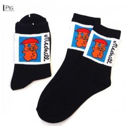 Kids Thin Pattern Socks - Pigs